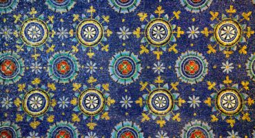 Ancient,Mosaics,(v,Century),On,A,Ceiling,In,The,Mausoleum